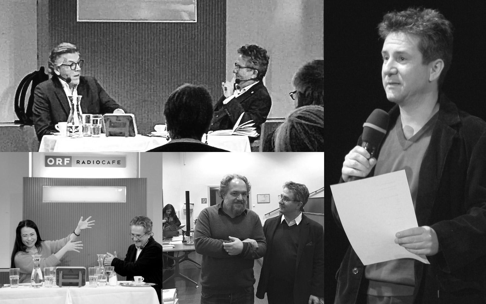 Thomas Hampson mit Helmut Jasbar, Maki Hagiwara, Mathias Enard, Helmut Jasbar